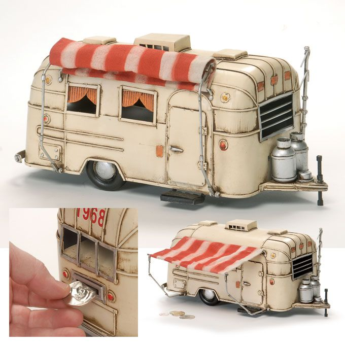 vintage camper memorabilia | Vintage Trailer Bank - Creations and Collections