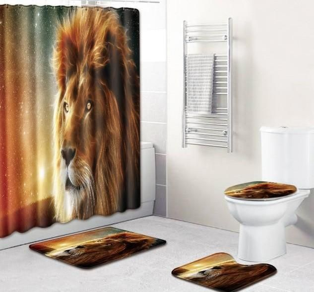 King Of The Jungle Lion Shower Curtain