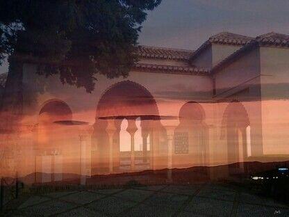 Sueño en el atardecer marino de la Alcazaba de Málaga