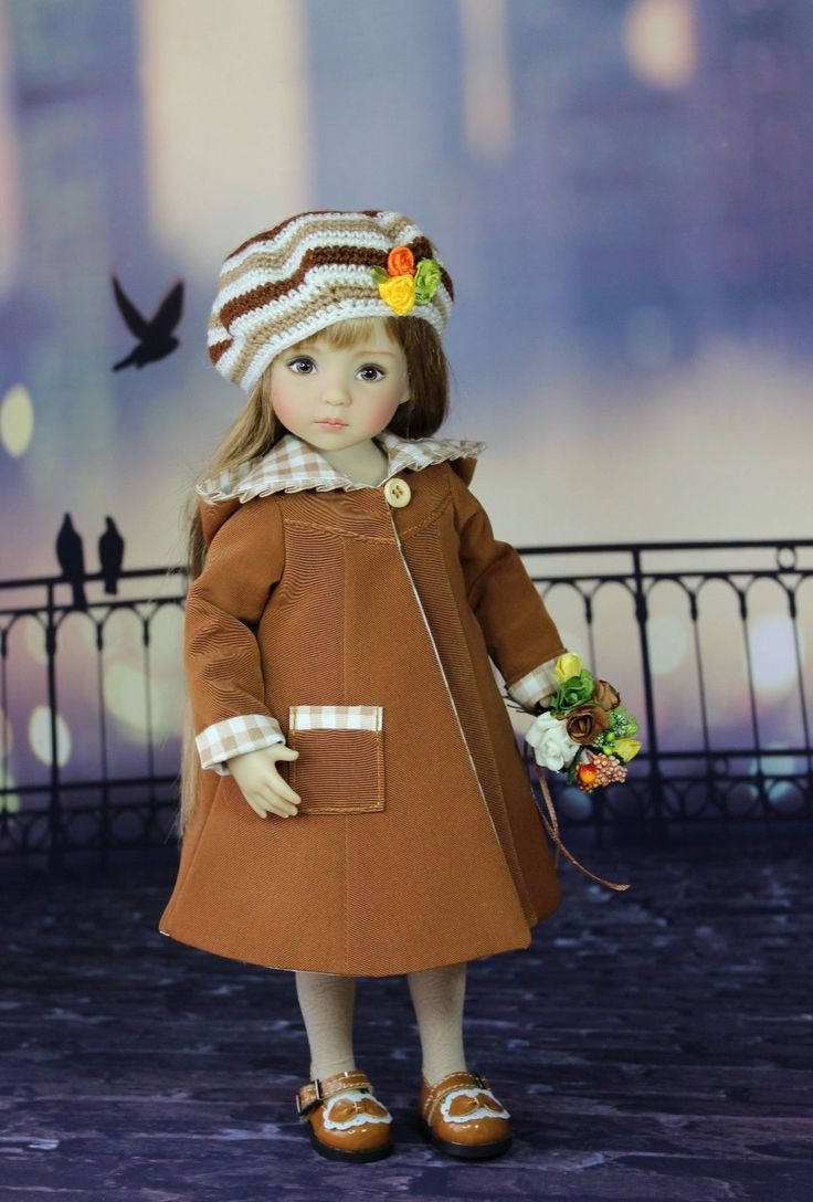 """The dress for a doll Дианна Effner Little Darling 13"""". doll clothes, dress"""