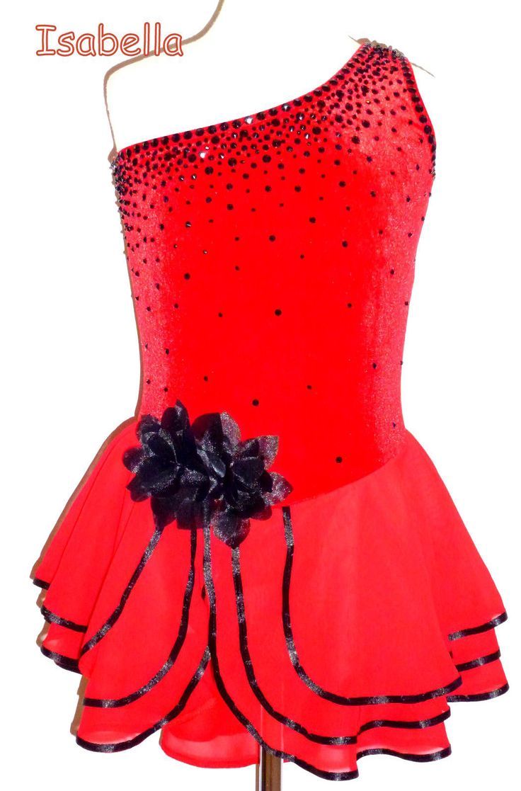 Spanish Theme Ice Figure Skating Dress Dance Costume Twirling Outfit Made to Fit | eBay