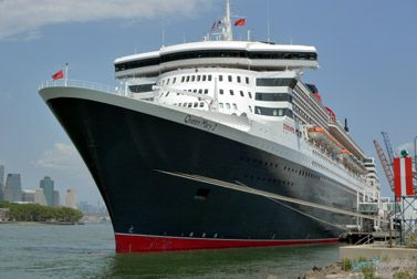 The Queen Mary 2 arrived in New York after a transatlantic crossing from Southampton