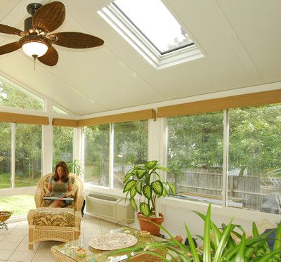 Vinyl Sunroom With Solid Roof