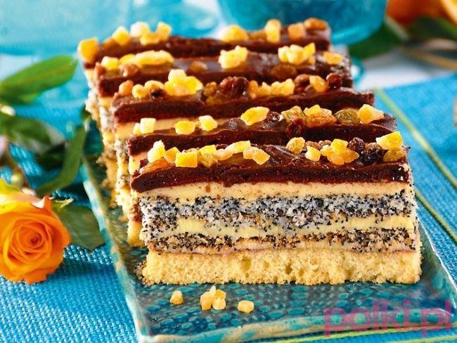 torcik makowy przepis, przepis na torcik makowy, makowy tort na święta