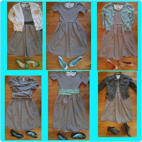 How to style a LuLaRoe Amelia dress.
