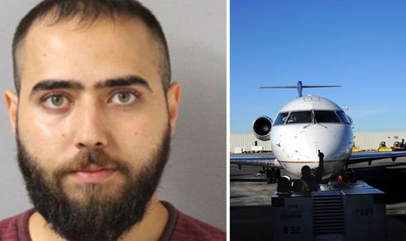 A PLANE was forced to make an an emergency landing after a drunk MOO-HAM-HEAD student alarmed passengers by breaking down the toilet door, throwing up and shouting in Arabic.16