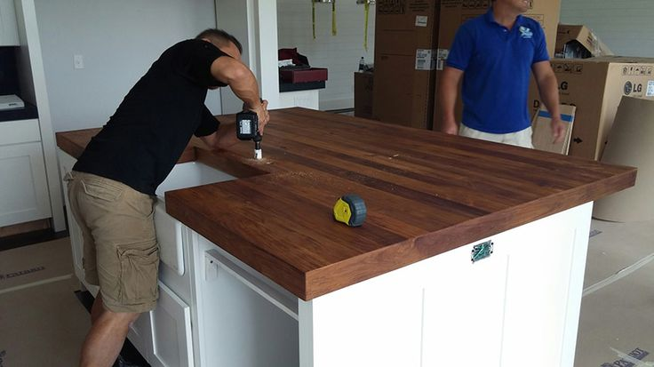 17 best images about butcher block countertops on for Wood stain pros and cons