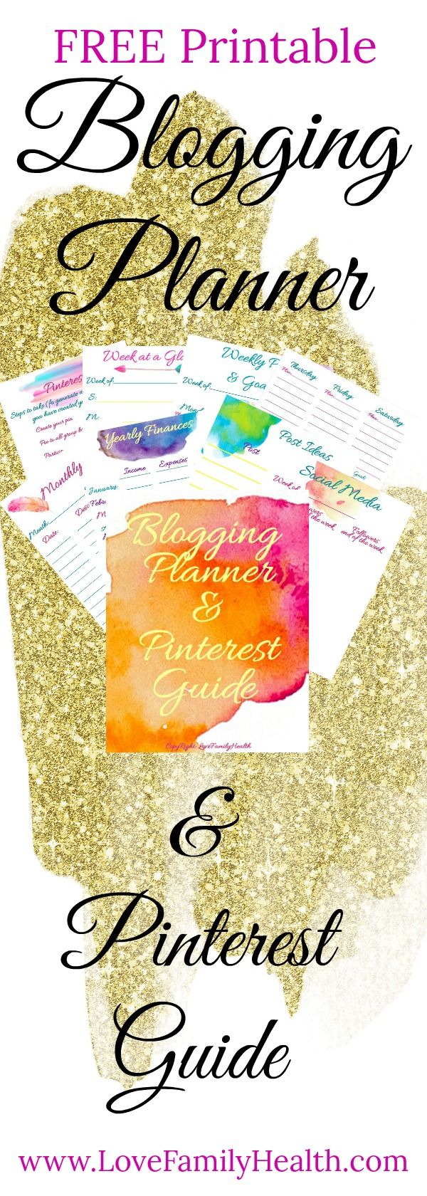 This FREE printable blogging planner with help you keep your blog and business organized! Keeping your blog on track and exploding your traffic!