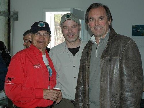 Gilles Lapierre, Stéphan Schneider et Robert Piché au Salon de l'aviation virtuelle du Québec 2007