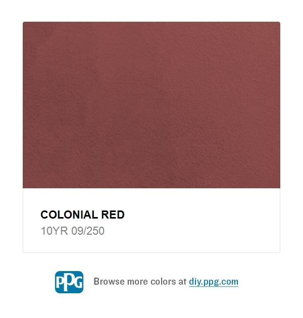Explore Paint Color Colonial Red By Ppg Timeless Available At The Home Depot