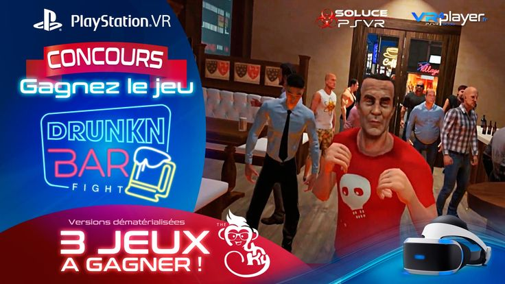 #PlayStationVR #PSVR  #RealiteVirtuelle #VR PlayStation VR, Drunkn Bar Fight Concours : 3 jeux à gagner, simple comme Bonjour ! https://www.vrplayer.fr/concours-drunkn-bar-fight-psvr/