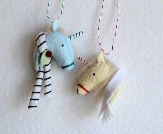 unicornament felt christmas unicorn ornament by MountRoyalMint