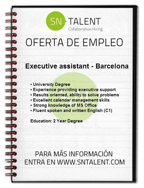 #Empleo Executive Assistant en #Barcelona