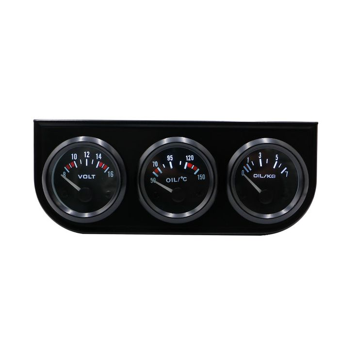 2'' 52MM 3 In 1 Volt meter  oil temp gauge  Oil Pressure Gauge Kit car meter/auto Gauge / Triple gauge kit tachometer YC100002 <3 Click the VISIT button to view the details