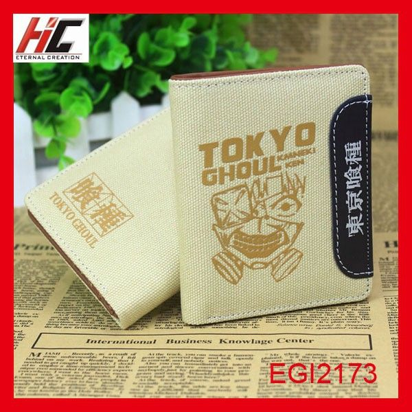 Tokyo ghoul 2015 new definition canvas anime wallet for teens wholesale alibaba express china