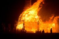 I want to go..! Burning Man is an annual event and a thriving year-round culture. The event takes place the week leading up to and including Labor Day, in Nevada's Black Rock Desert.