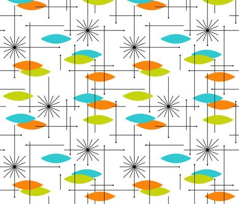 Colorful fabrics digitally printed by Spoonflower Orbs