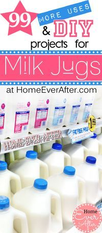 99 More Uses for Plastic Milk Jugs & DIY Milk Jug Projects