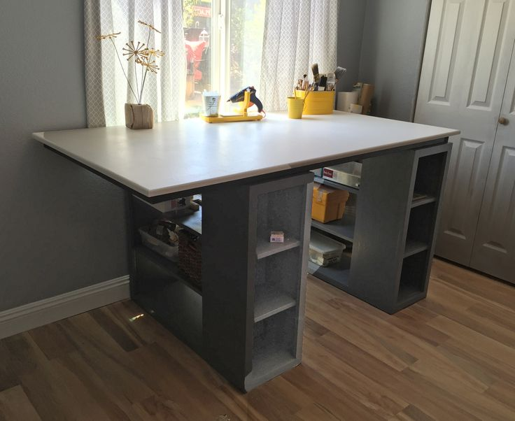 53 best craft room tutorials images on pinterest woodworking modern craft table do it yourself home projects from ana white solutioingenieria Images