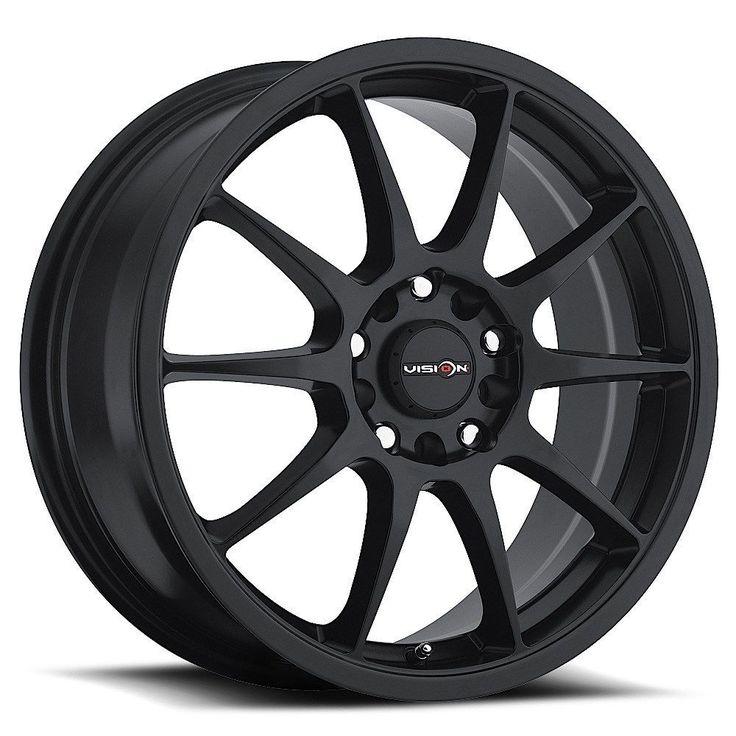 5 lug 100 114 3 4 5 black 15 inch honda accord civic wheels set of 4 rims car and truck parts. Black Bedroom Furniture Sets. Home Design Ideas