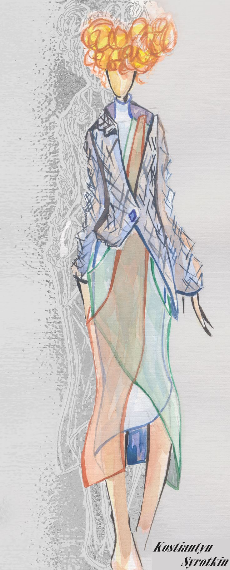 Women's collection Spring-Summer 2006 // inspiration - 80's fashion illustration // sketch