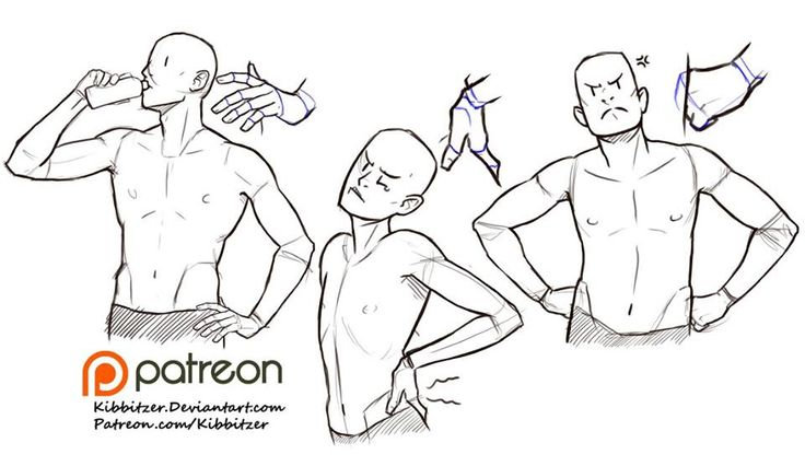 pose reference torso maschile uomo mani sui fianchi