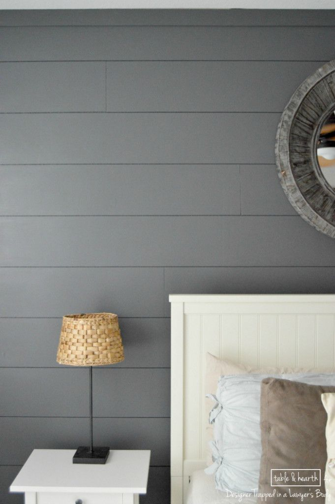 easy diy shiplap wall bedroom feature - Feature Wall Bedroom