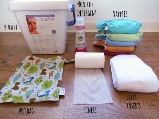 washable nappies equipment needed