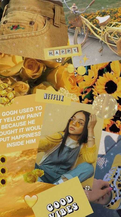 Collage Wallpaper Yellow Aesthetic Wallpaper Xlotteth On