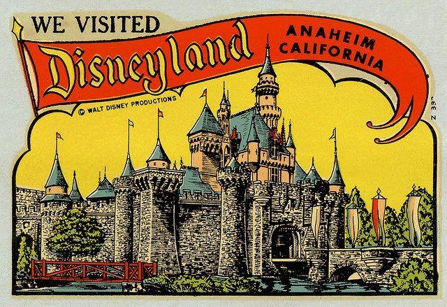 Vintage Disneyland decal keepsake - bring these back!
