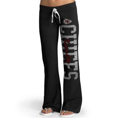 WANT--Kansas City Chiefs '47 Brand Womens Pep Rally Pants – Black