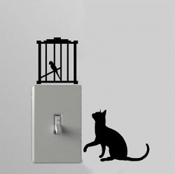 ha! light switch wall decals