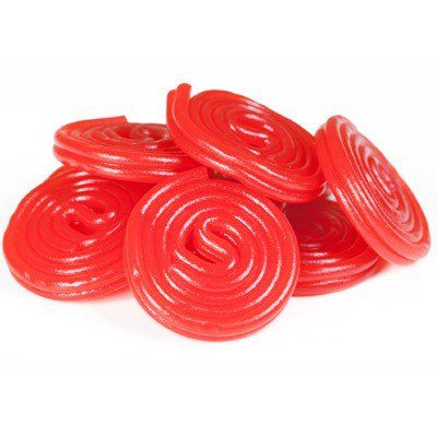 Haribo Red Licorice Wheels - 5lb from CandyStore.com