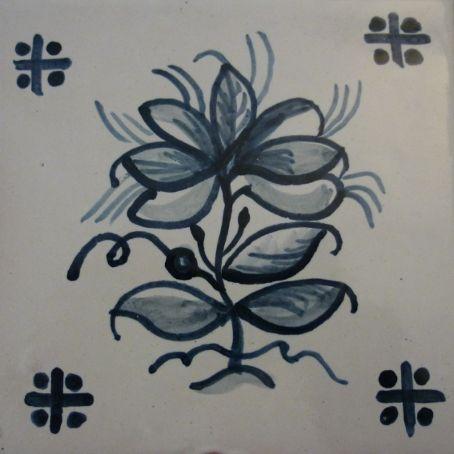Handpainted Portuguese Tiles by Roger Metcalfe. 15 x 15cm. www.estudio-destra.com