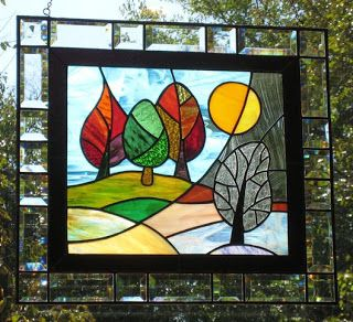 stained glass bottles | Stained Glass Window Panels