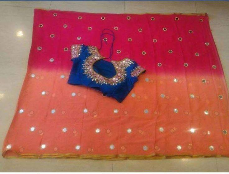 Beautiful Designer sarees With Mirror Work Blouse   Buy Designer Sarees   Elegant Fashion Wear