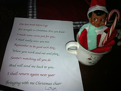 Elf On The Shelf Good Bye Poem And Also Some Cute Ideas