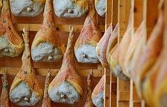 Der Schinken wird ausschließlich in Friaul-Julisch Venetien im Hügelland der gleichnamigen Gemeinde in der Provinz Udine, im äußersten Nordosten Italiens erzeugt. Der San Daniele Schinken ist an seiner typischen Gitarrenform, dem Spitzfuß und dem Markenzeichen des Konsortiums erkennbar. Er wird ausschließlich aus dem Fleisch von Schweinen erzeugt, die in Italien geboren und gezüchtet worden sind, sowie aus Meersalz. Es handelt sich um ein Naturprodukt ohne Zusatz- und Konservierungsstoffe.