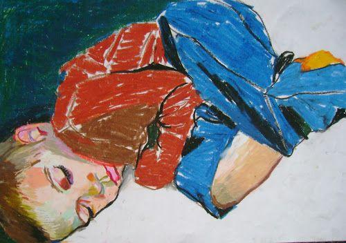 Filip 2, tłusty pastel na papierze http://www.alesztuka.com/klaudia_mostowik/filip_2 #alesztuka #sztuka #rysunek