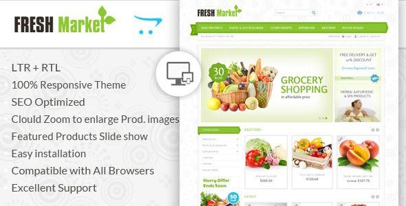 Fresh Market - OpenCart Responsive Theme (OpenCart)