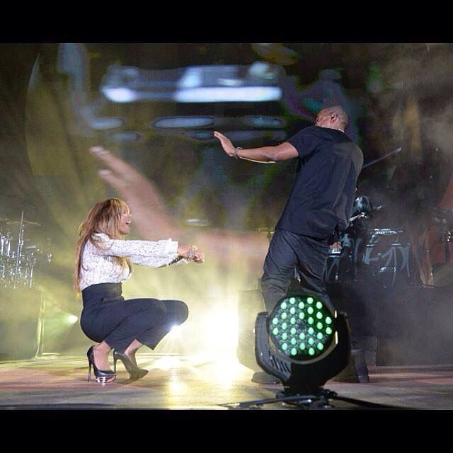 Jay-Z & Beyonce at the Global Citizen Festival 2014