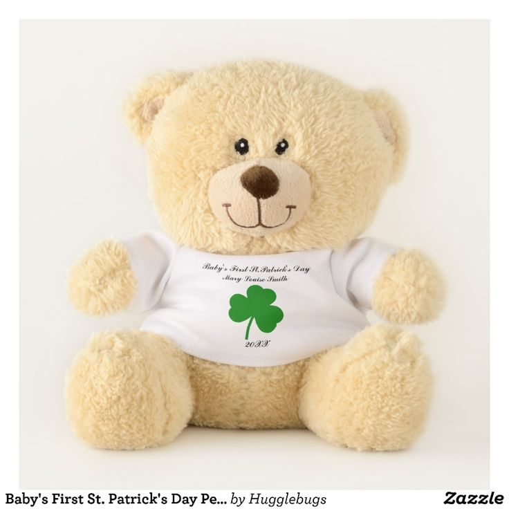 Baby's First St. Patrick's Day Personalized Teddy Bear
