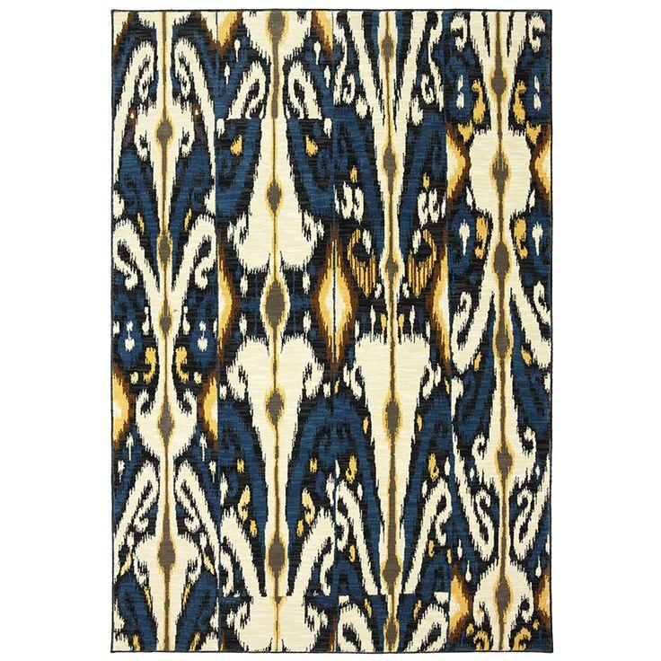 Wexler Hand Woven BlueGreenRed IndoorOutdoor Area Rug