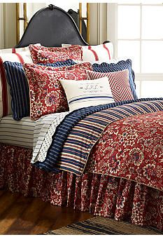 Ralph Lauren bedding - these colors would look good in our bedroom