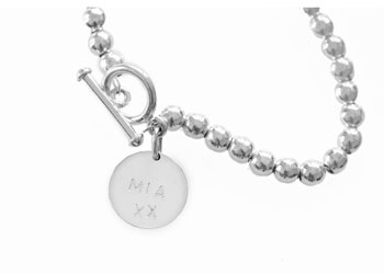 The sterling silver popular CHARLOTTE bracelet is the daintiest of the silver seeds range. Each bracelet comes complete with a toggle or parrot clasp. Add one of the koolaman designs sterling silver hand-stamped pendants or wear it plain. Each ball is 6mm in diameter and the bracelets are 20cm from the bolt to the ring. These beautifully made bracelets are strung with sterling silver chain. $180.00 http://www.koolamandesigns.com.au/shop/charlotte-bracelet-p-666.html