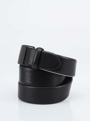 Selected - Černý pásek s kovovou přezkou  Milton