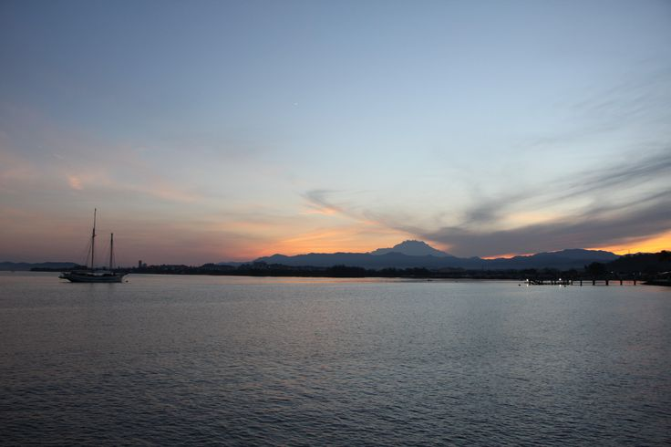 Sunset view of Mount Kinabalu taken from Kota Kinabalu