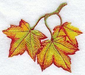 Autumn Towel -  Maple Leaf Towel - Embroidered Towel -  Flour Sack Towel - Hand Towel - Bath Towel - Apron - Fingertip Towel by misty1718 on Etsy