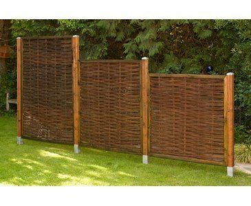 Weidenzaun günstig, London eco Modell, 120 x 180cm - Sichtschutzzäune Sichtschutzmatten Sichtschutzwände