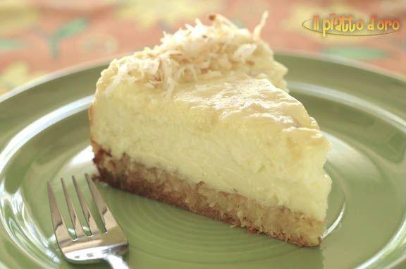 Cheesecake al cocco e cioccolato bianco - http://ilpiattodoro.it/cheesecake-al-cocco-e-cioccolato-bianco/